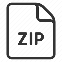 file, format, zip, zipped icon