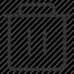 bin, can, clean, delete, trash icon