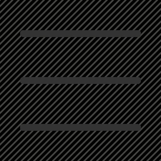 lines, list, menu, rows icon