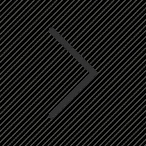 angle, arrow, forward, right icon