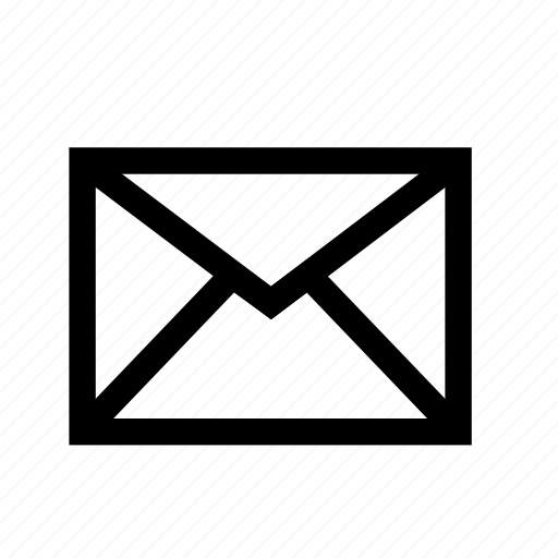 email, envelope, line, mail, message, sent, wrapper icon