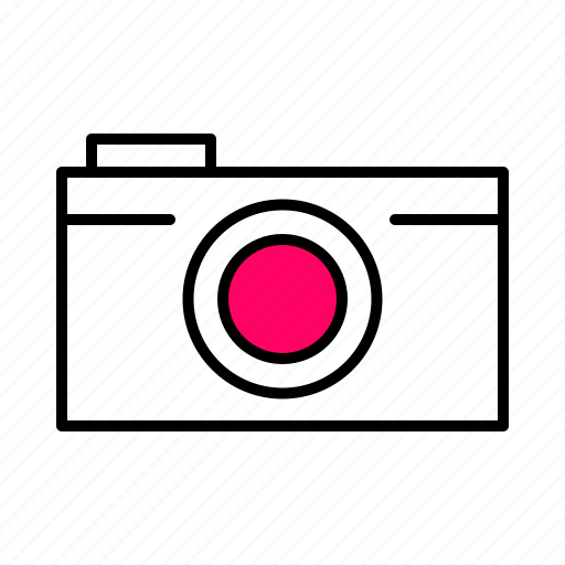 .svg, camera, interface, line, photo, pink, selfie icon