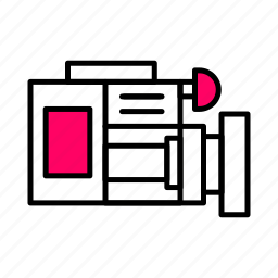 .svg, camera, interface, line, photography, pink, video icon