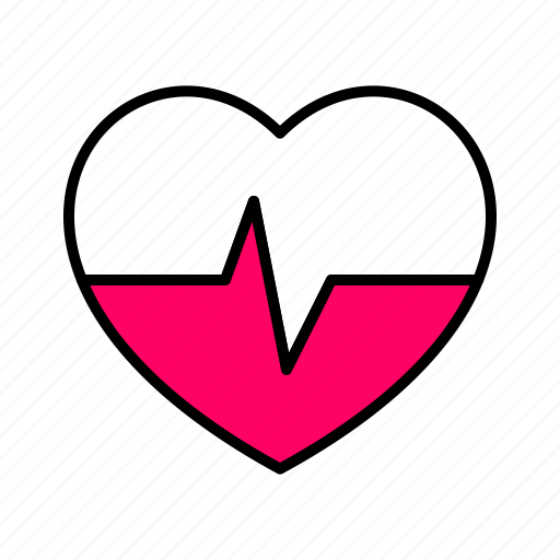 .svg, ecg, heart, interface, line, pink, pulse icon