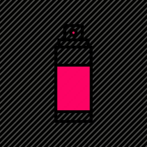 .svg, aerosol, interface, line, paint, pink, spray icon