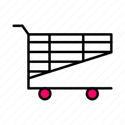 .svg, basket, buy, interface, line, pink, shop icon