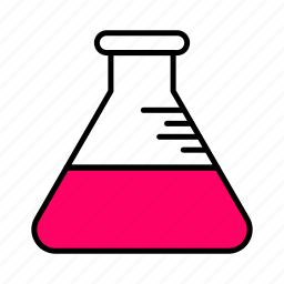 .svg, chemistry, flask, fluid, interface, line, pink icon
