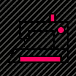 .svg, interface, line, machine, pink, sewing, thread icon