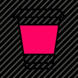 .svg, beverage, coffee, glass, interface, pink, tea icon