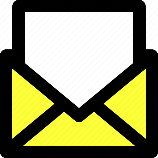 communication, email, inbox, mail, message, open, user interface icon