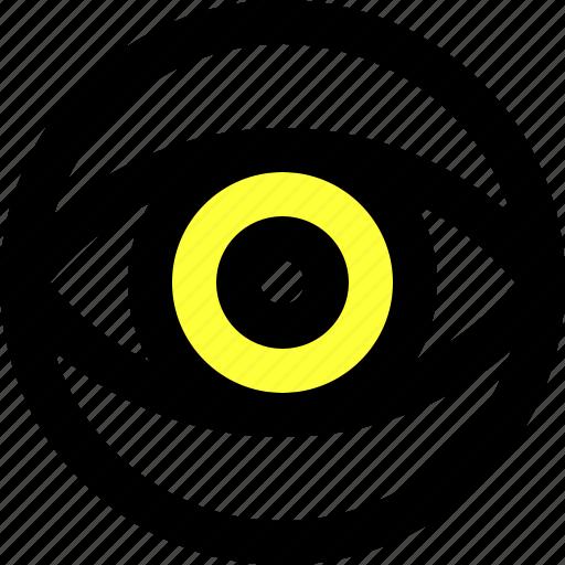 display, eye, sight, view icon