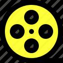 essentials, film, media, movie, roll, ui, user interface icon