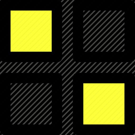 app, applications, list, menu, squares, ui, user interface icon