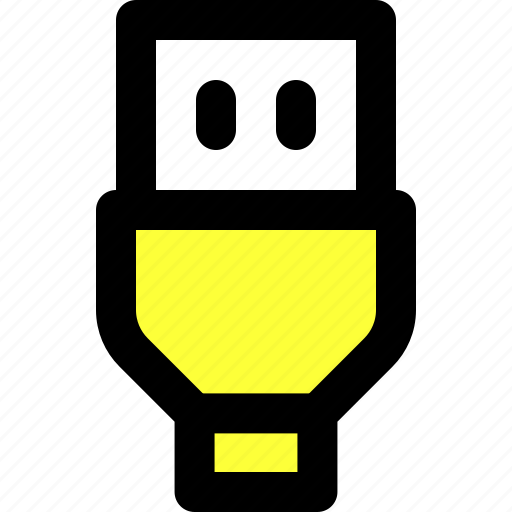 bus, cable, communication, hardware, port, usb, user interface icon