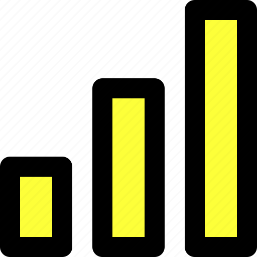 bars, communication, connectivity, reach, statistics, stats, user interface icon