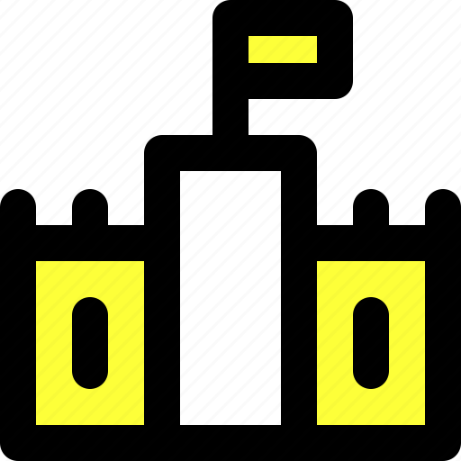 castle, fortress, protection, safety, security, ui, user interface icon