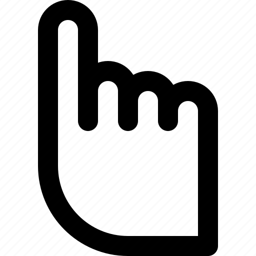 finger, hand, index, mouse, pointer, ui, user interface icon