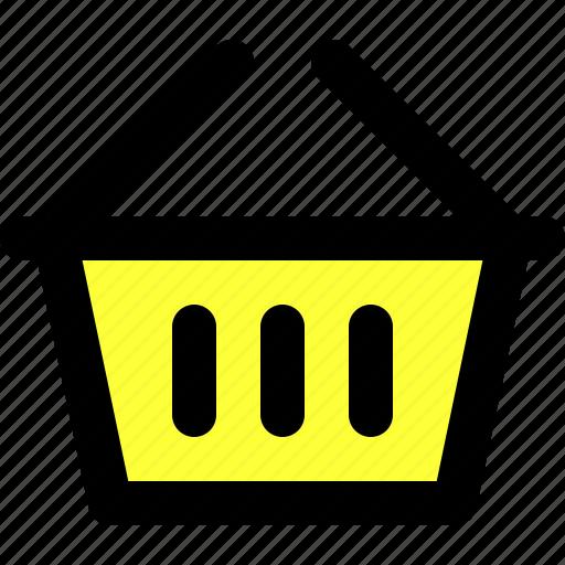 basic icon, basket, ecommerce, essentials, shopping, ui, user interface icon