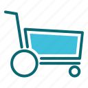 cart, interface, trolley, user icon