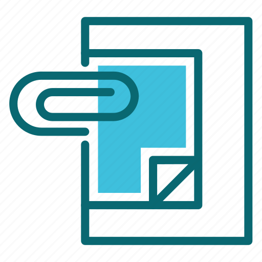 attachment, document, interface, user icon