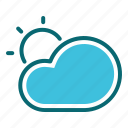 cloud, interface, sunny, user, weather