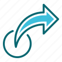 forward, interface, share, user icon