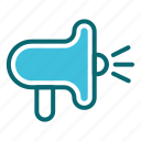attention, information, interface, loud, speaker, user icon