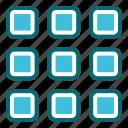 grid, interface, menu, user icon
