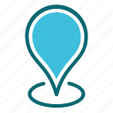 interface, location, map, pin, user icon