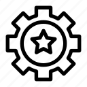 control, favorite, gear, like, star icon