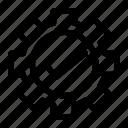 control, correct, gear, mark, right icon