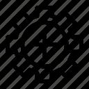 control, delete, gear, remove, stop icon