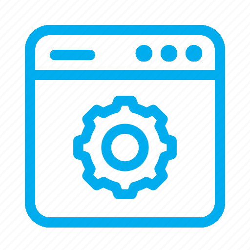 Cyan, gear, interface, settings, ui, user, user interface icon - Download on Iconfinder