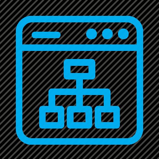 chart, cyan, interface, sitemap, ui, user, user interface icon