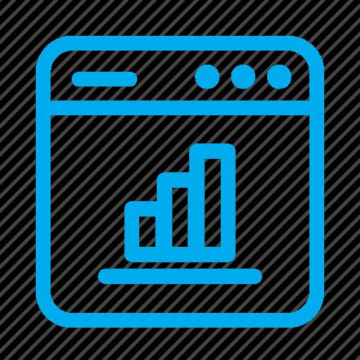 analytics, bar graph, cyan, interface, ui, user, user interface icon