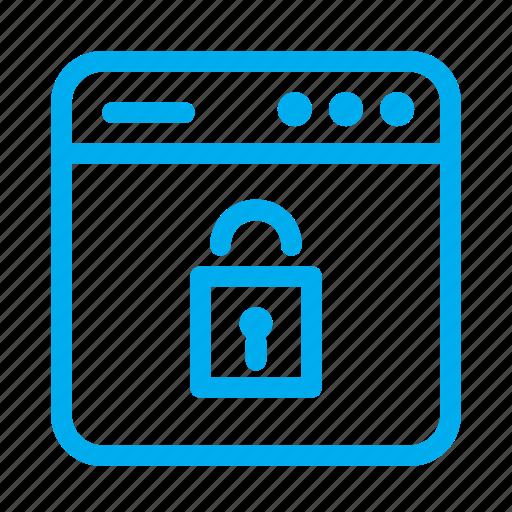 cyan, interface, lock, security, ui, user, user interface icon
