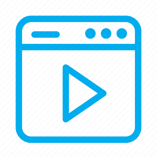 Cyan, interface, media, play, ui, user, user interface icon - Download on Iconfinder