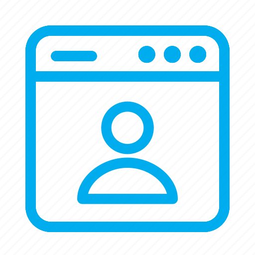 cyan, interface, person, profile, ui, user, user interface icon