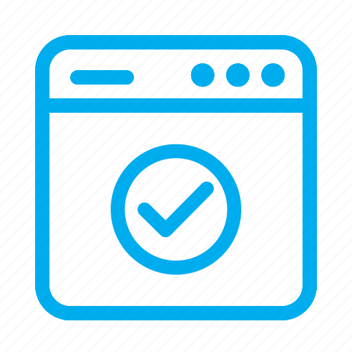 check, complete, cyan, interface, ui, user, user interface icon