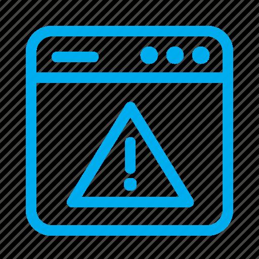 Alert, cyan, interface, ui, user, user interface, warning icon - Download on Iconfinder