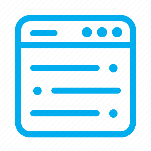 cyan, interface, layout, list, ui, user, user interface icon