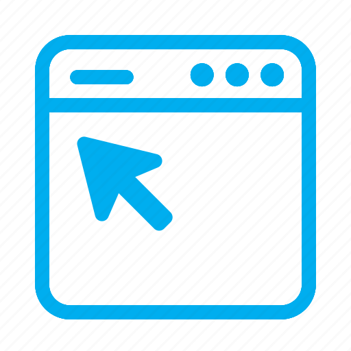 click, cyan, interface, pointer, ui, user, user interface icon