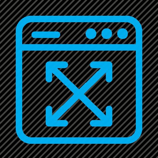 cyan, expand, interface, ui, user, user interface, window icon