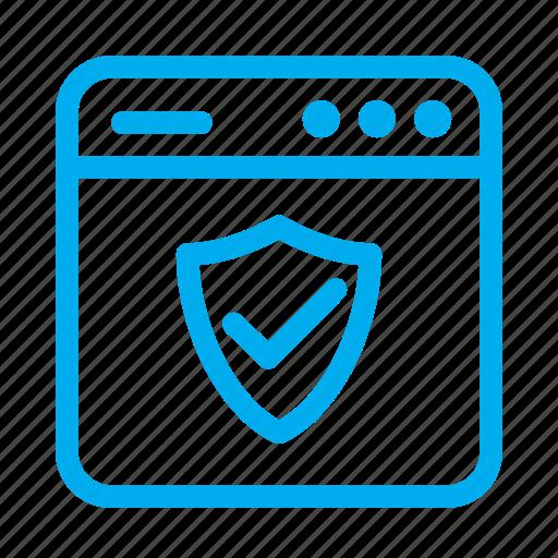 cyan, interface, protection, shield, ui, user, user interface icon