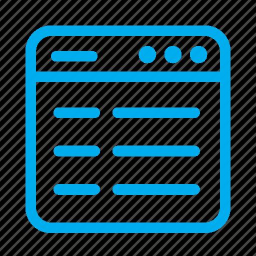 cyan, interface, layout, list, ui, user, user interface icon