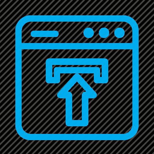 cyan, interface, ui, upload, upload file, user, user interface icon