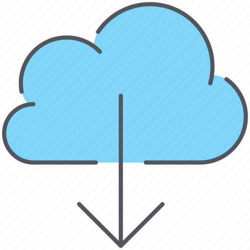 backup, cloud, data, download, files, network, storage icon