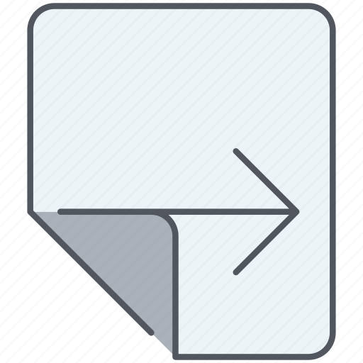 fold, forward, navigation, next, open, page, right icon