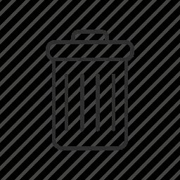 delete, junk, remove, rubbish, trash, trash can, waste icon