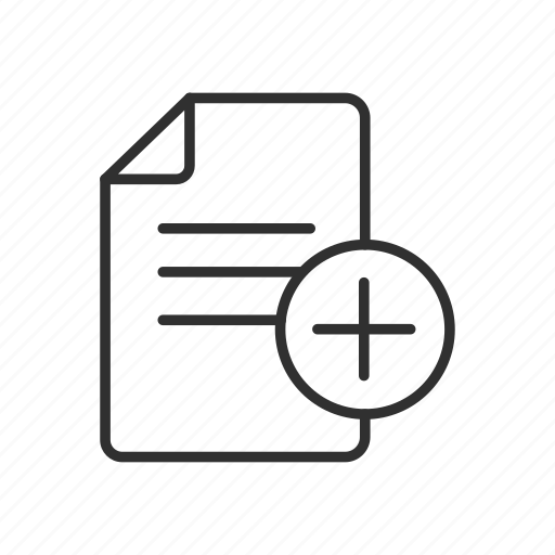 add document, add file, add report, new document, new file, new report icon